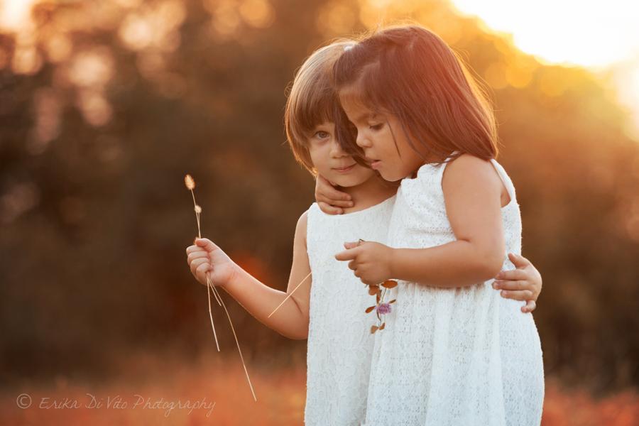 fotografo bambini tramonto